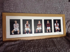 Hearts Classic Kits Original Framed Painting 20'' x 8''